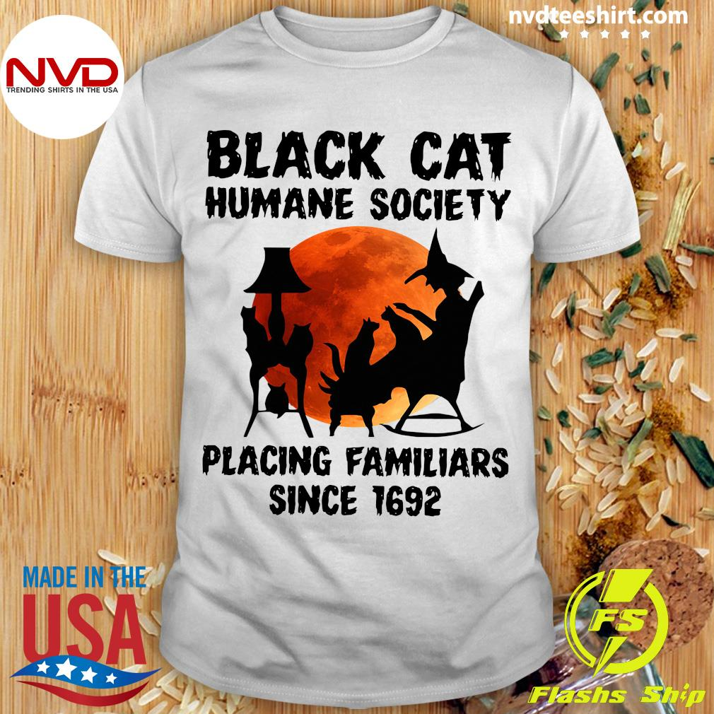 Black Cat Humane Society Placing Familiars Since 1692 Vintage Shirt