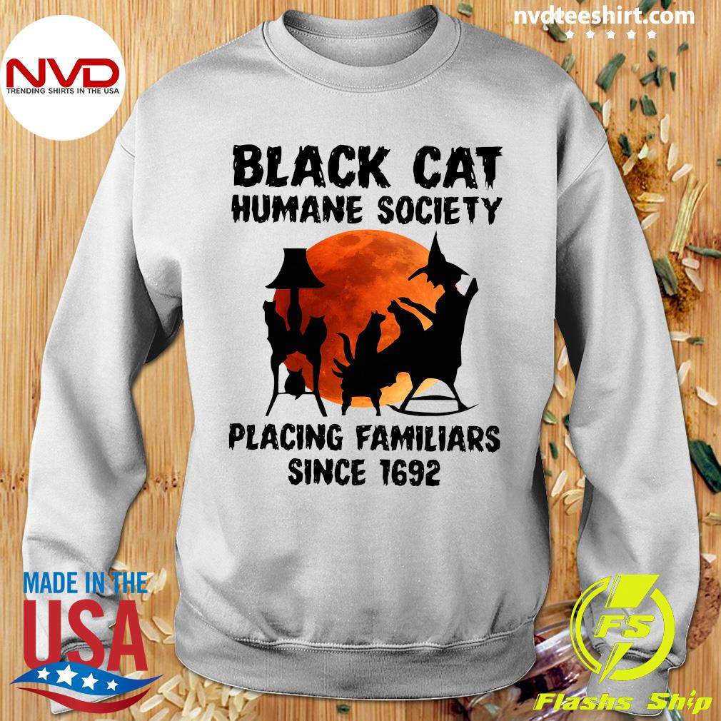 Black Cat Humane Society Placing Familiars Since 1692 Vintage Shirt Sweater