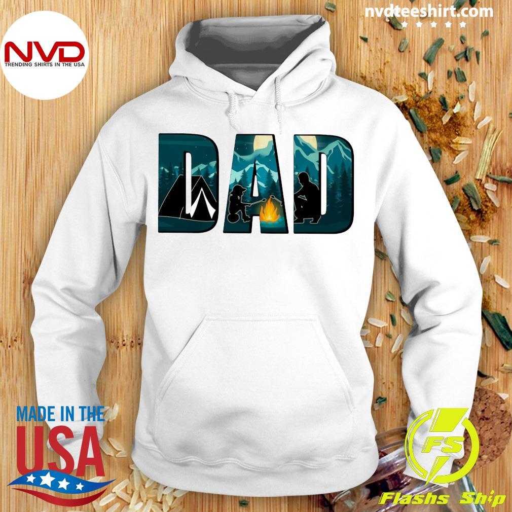 Dad Camping Shirt Hoodie