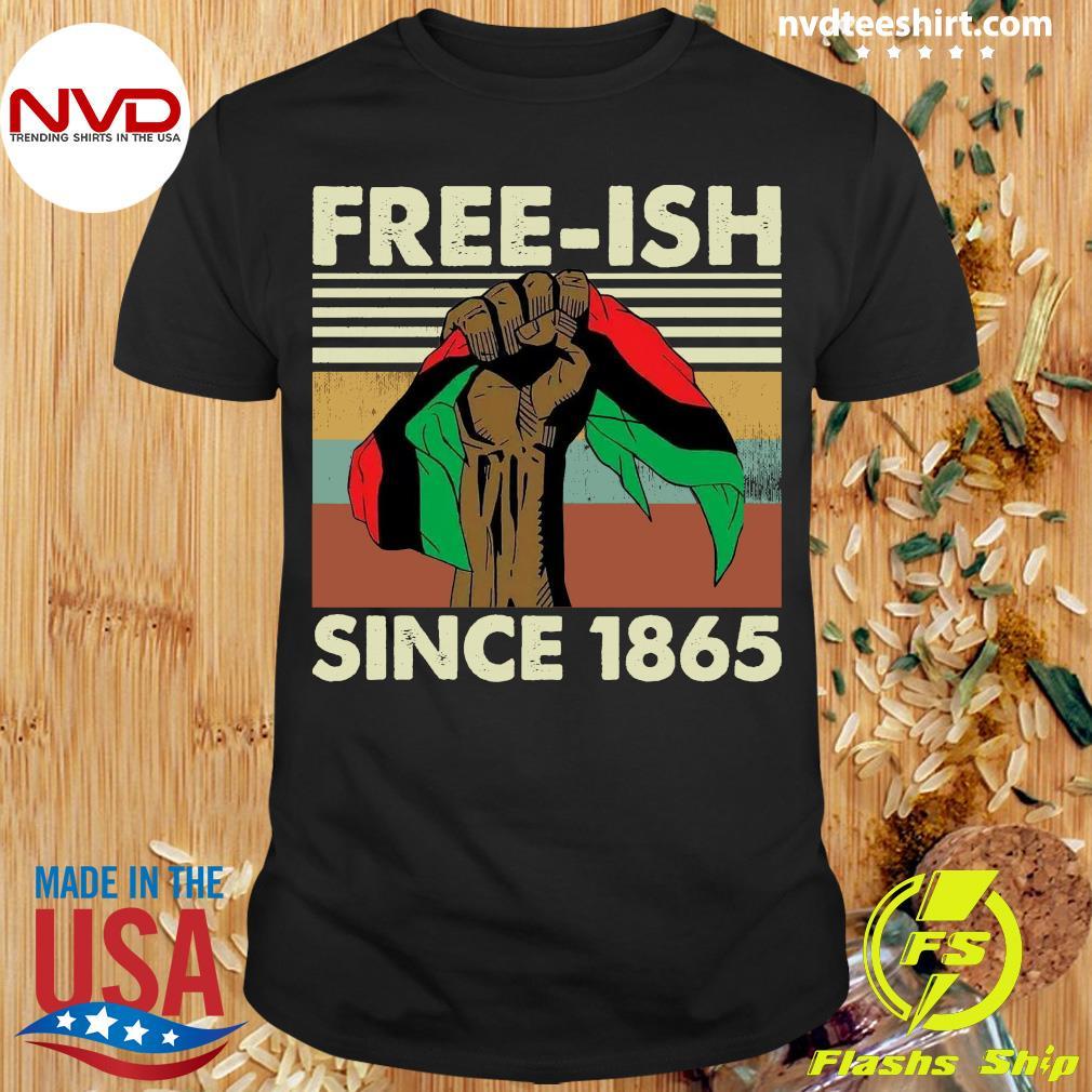 Freesh Since 1865 Junteenth Is Coming Black Supremacy Flo Eternal Shirt