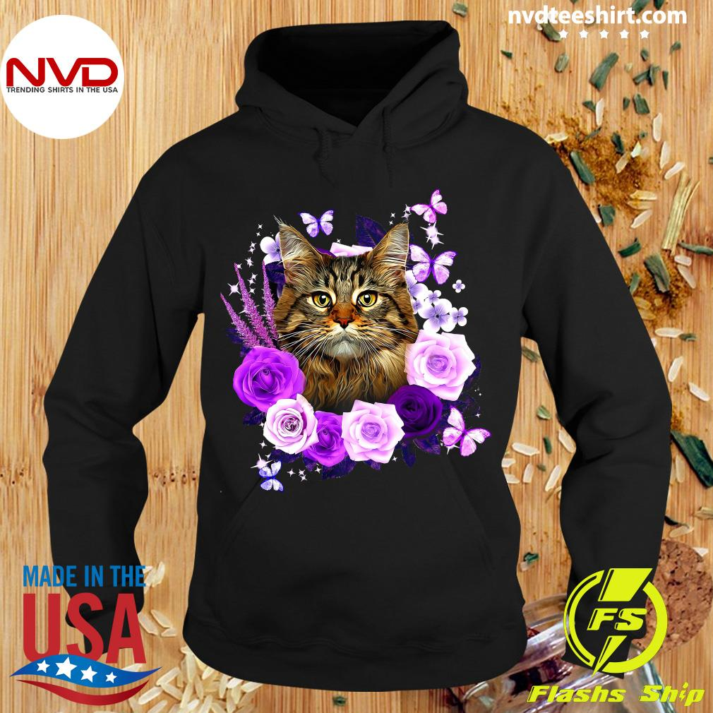 Funny Cat Likes Rose Shirt Hoodie