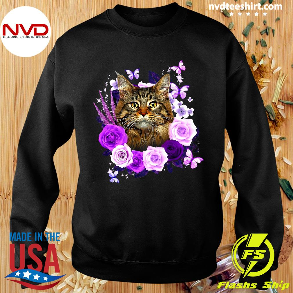 Funny Cat Likes Rose Shirt Sweater