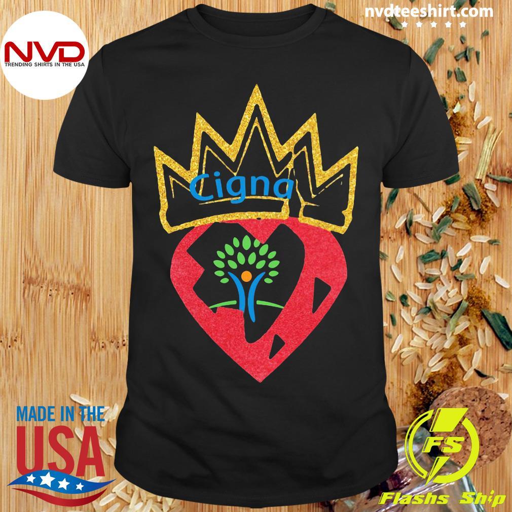Funny Queen Strawberry Cigna Logo Diamond Shirt
