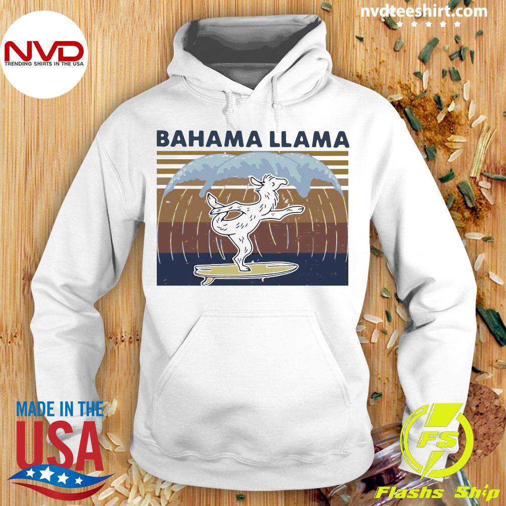 Pretty Bahama Llama Dancing Vintage Retro Shirt Hoodie
