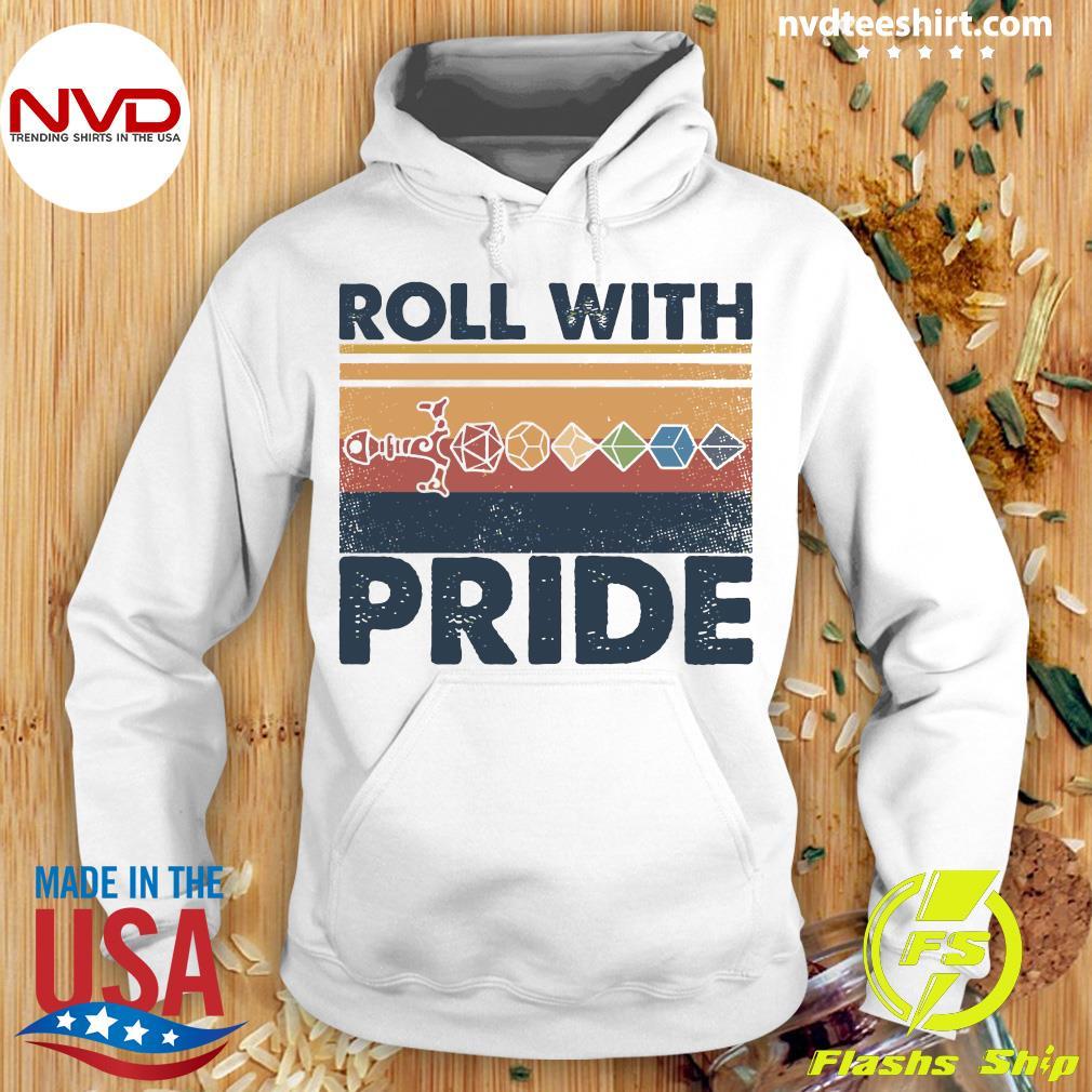 Roll With Pride Vintage Shirt Hoodie