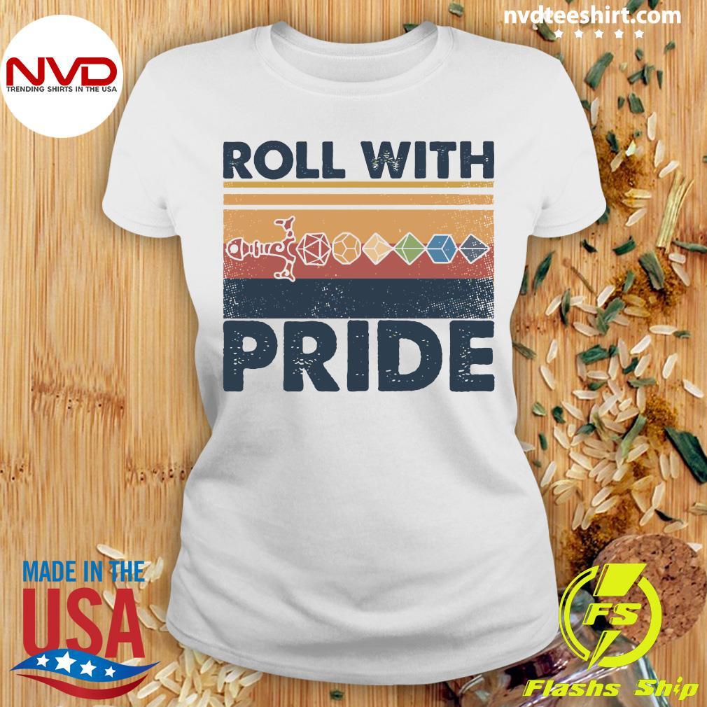 Roll With Pride Vintage Shirt Ladies tee
