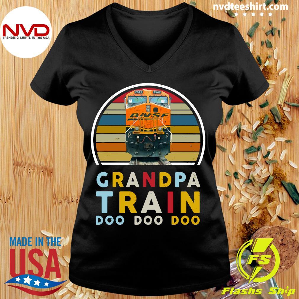 Vintage Grandpa Train Bnsf Doo Doo Doo Shirt Ladies tee