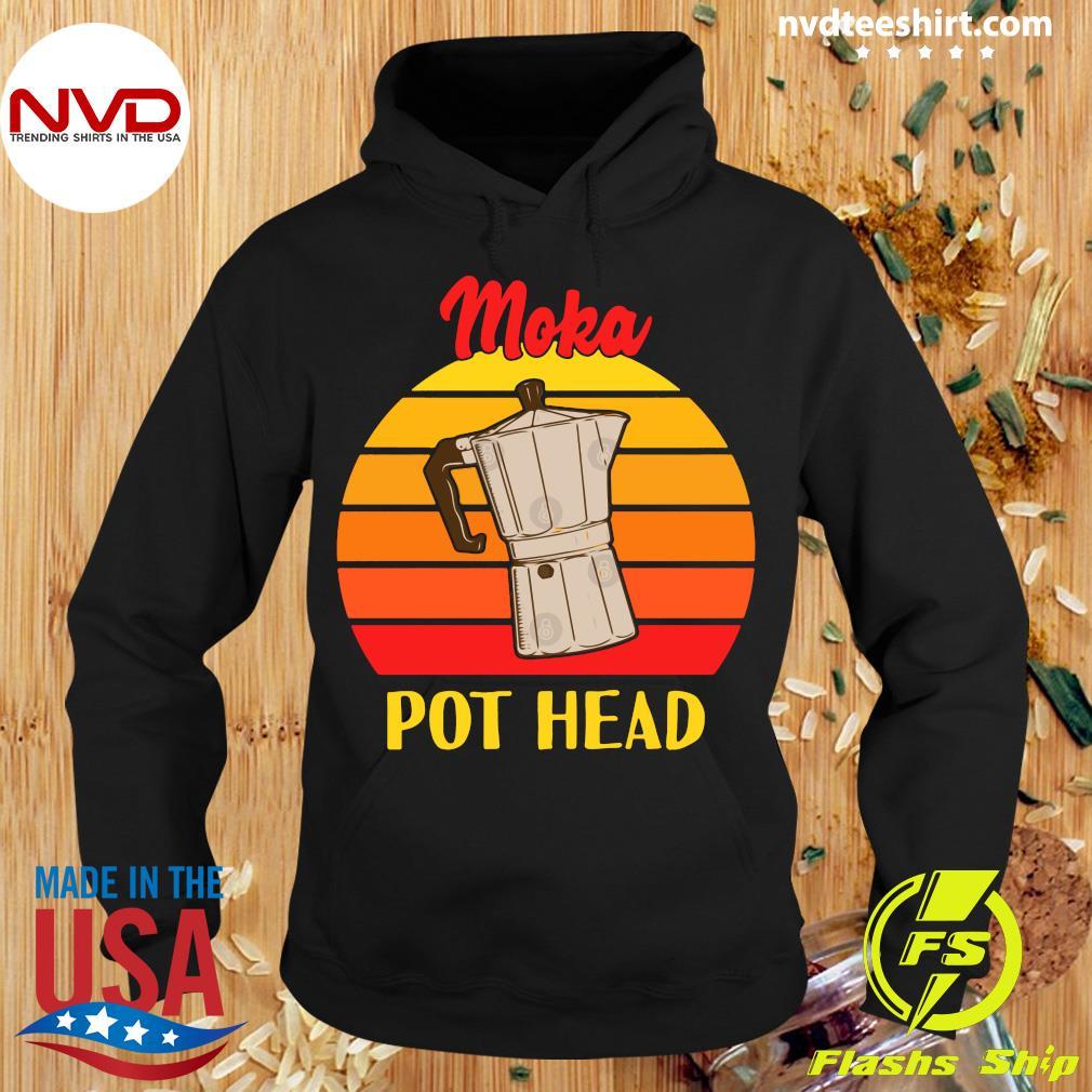 Vintage Moka Pot Head Shirt Hoodie