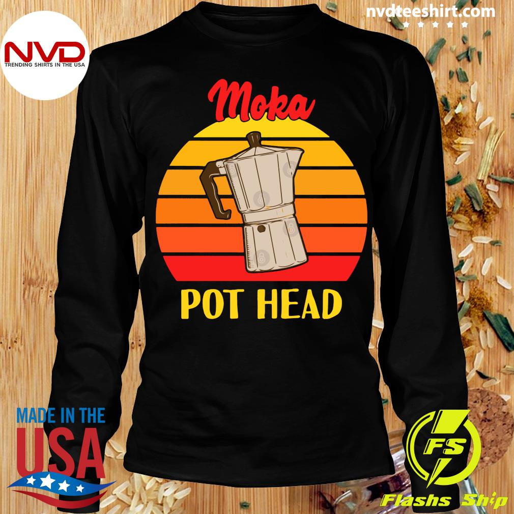 Vintage Moka Pot Head Shirt Longsleeve