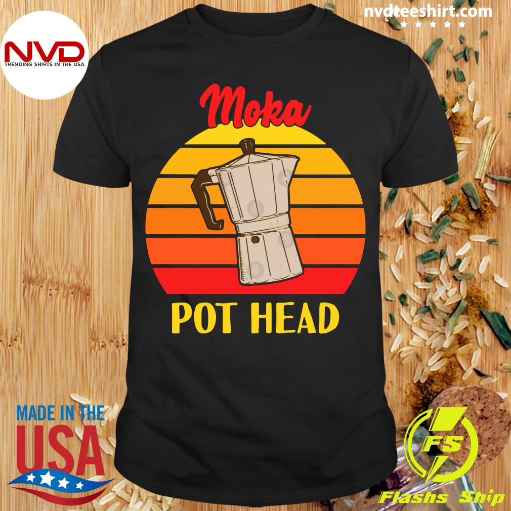 Vintage Moka Pot Head Shirt