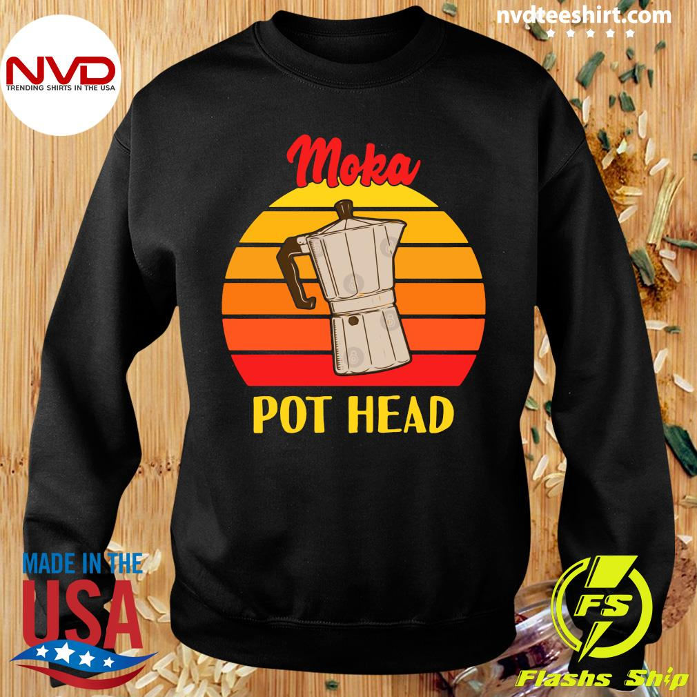 Vintage Moka Pot Head Shirt Sweater