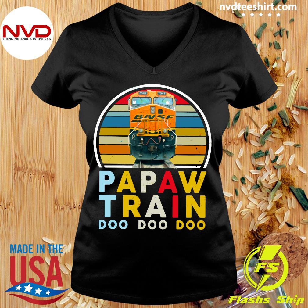 Vintage Papaw Train Bnsf Doo Doo Doo Shirt Ladies tee