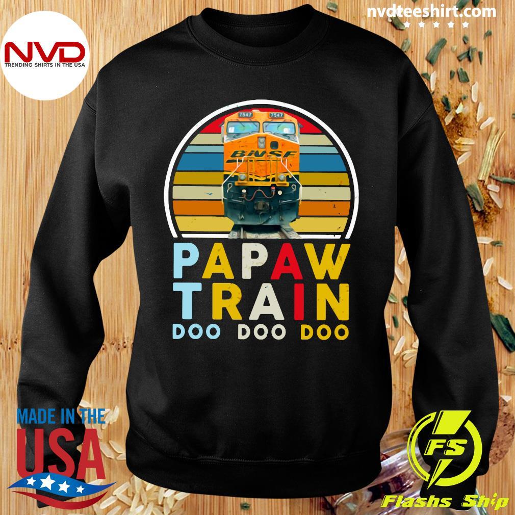 Vintage Papaw Train Bnsf Doo Doo Doo Shirt Sweater