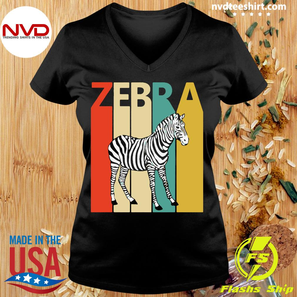 Zebra Animal Animal Gift Baseball Shirt Ladies tee