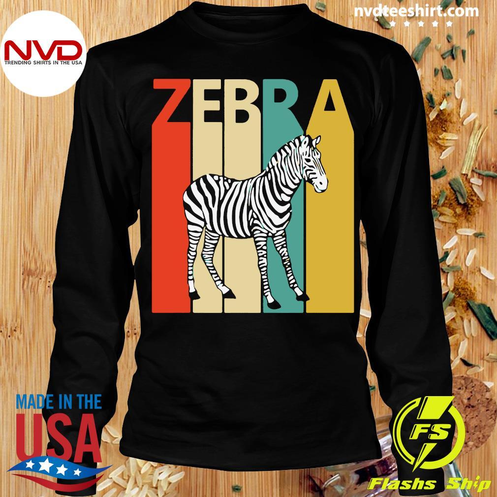 Zebra Animal Animal Gift Baseball Shirt Longsleeve