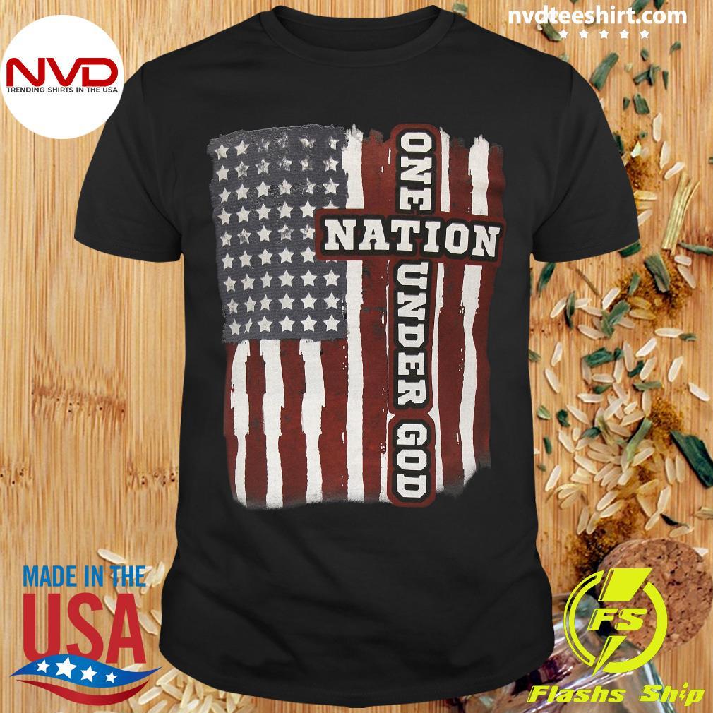 American Flag One Nation Under God Shirt