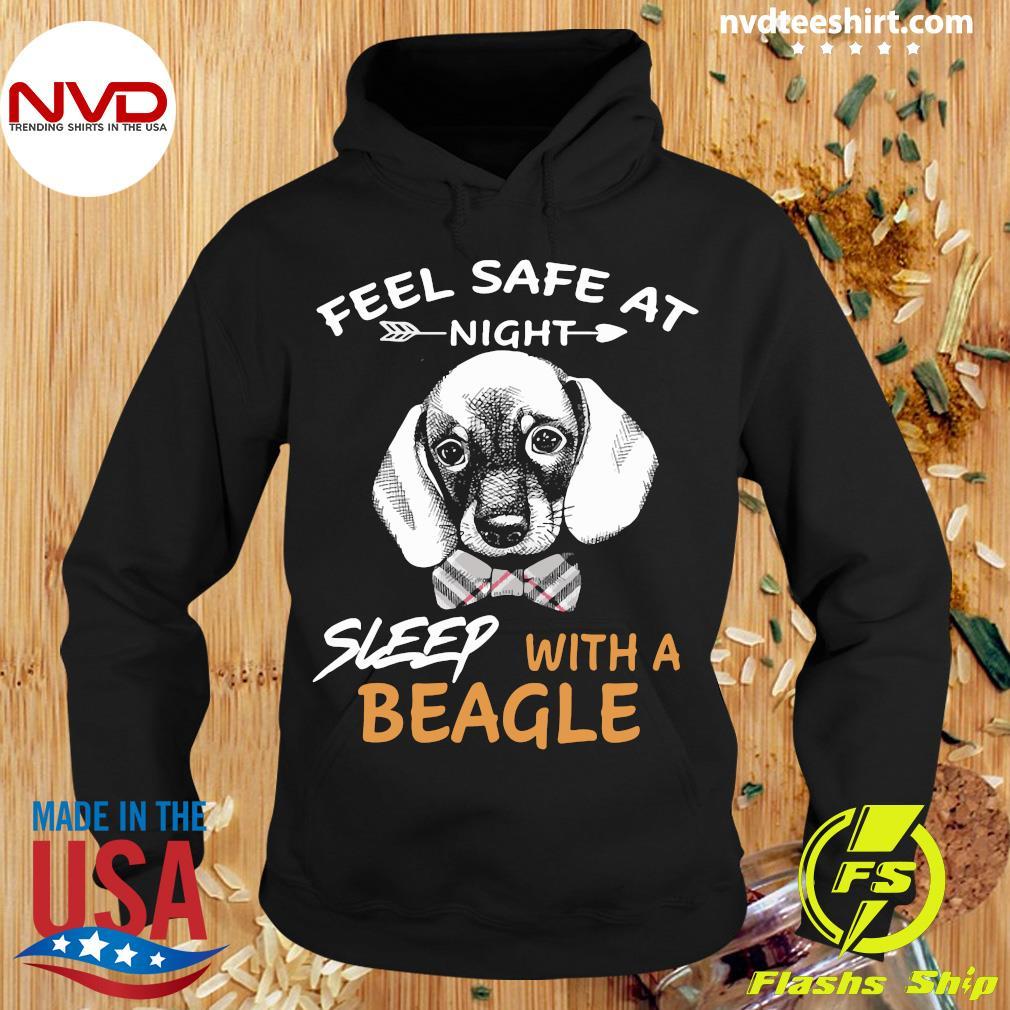 Dog Feel Safe At Night Sleep With A Beagle Shirt Hoodie