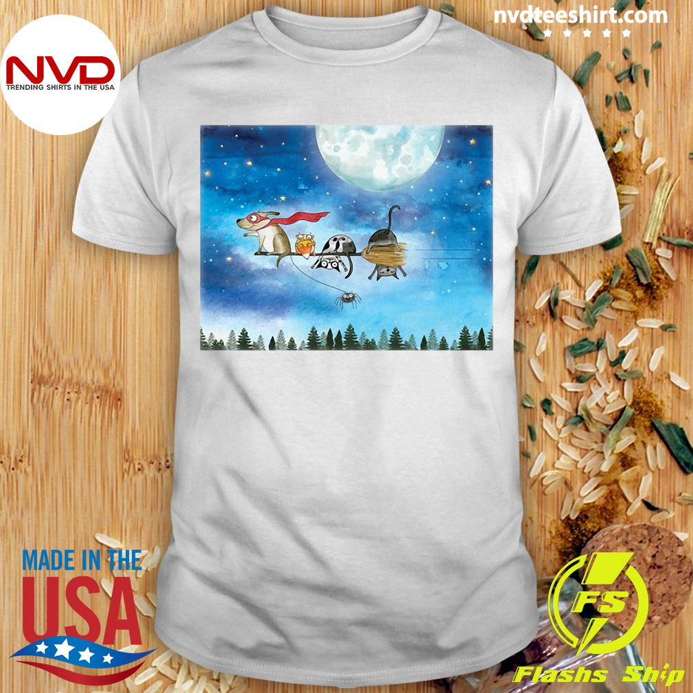Funny Broom Ride With Friends Shirt
