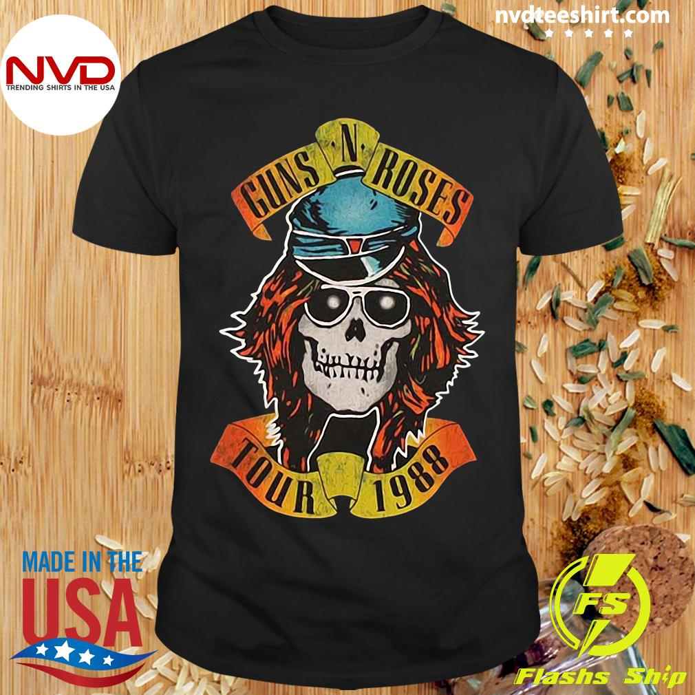 Guns N Roses Appetite For Destruction Tour 1988 Shirt