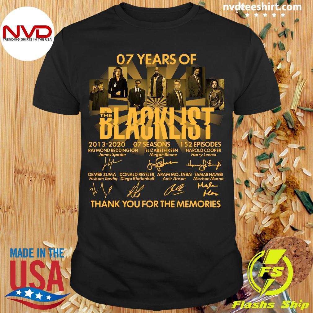 Official 07 Years Of The Blacklist Thank You For The Memories Shirt