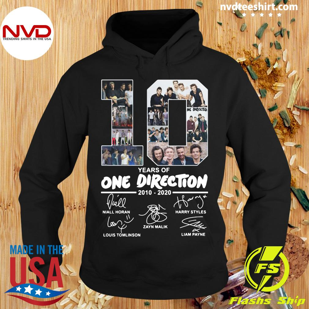 Official 10 Years Of One Direction 2010 2020 Signatures Shirt Hoodie