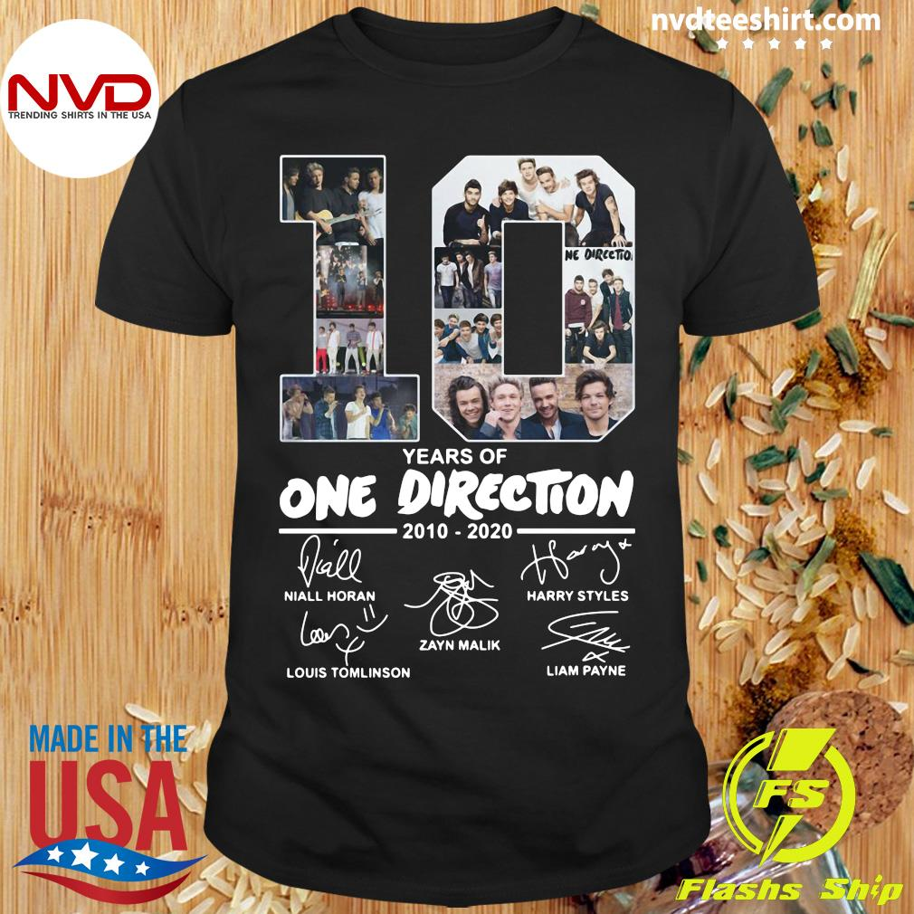 Official 10 Years Of One Direction 2010 2020 Signatures Shirt