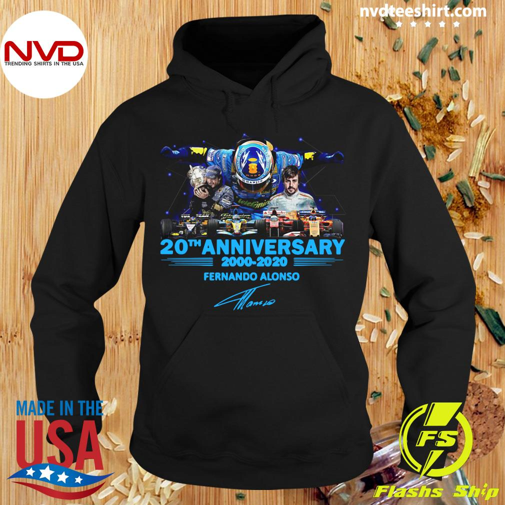 Official 20th Anniversary 2000 2020 Fernando Alonso Signature Shirt Hoodie
