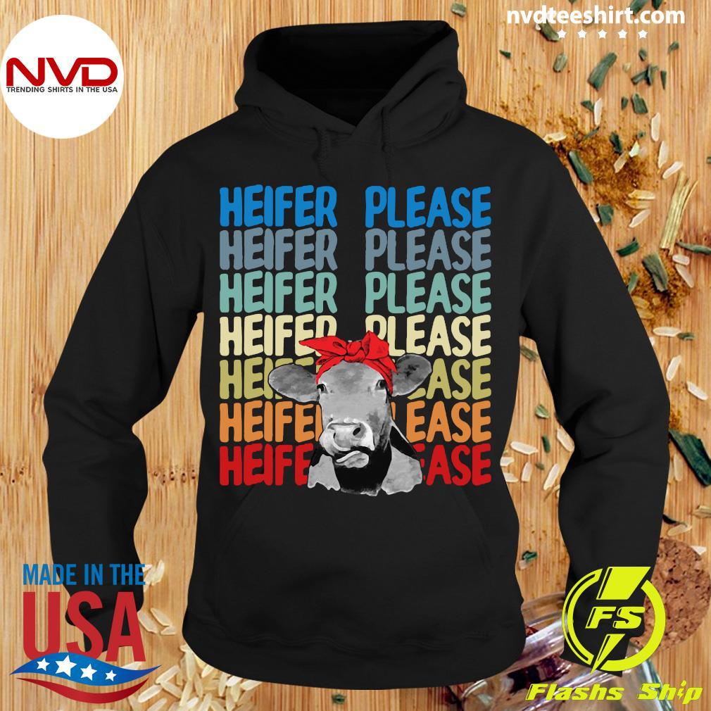 Official Heifer Please Cow Vintage Retro Shirt Hoodie