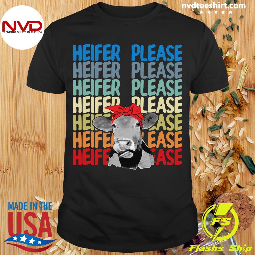 Official Heifer Please Cow Vintage Retro Shirt