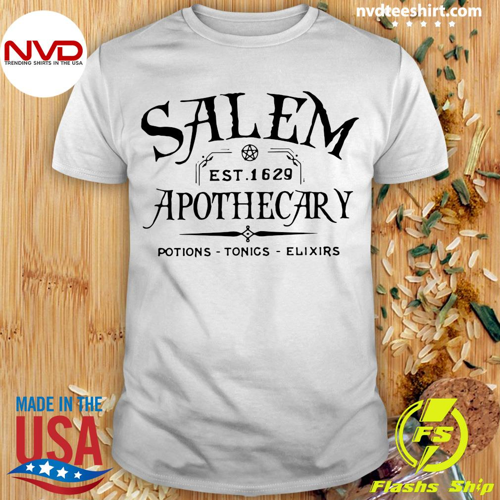 Official Salem EST 1629 Apothecary Potions Tonics Elixirs Shirt