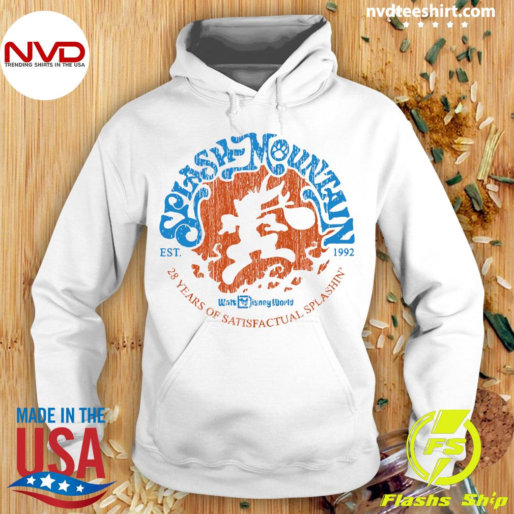 Official Splash Mountain Est 1992 28 Years Of Satisfactual Splashin Shirt Hoodie