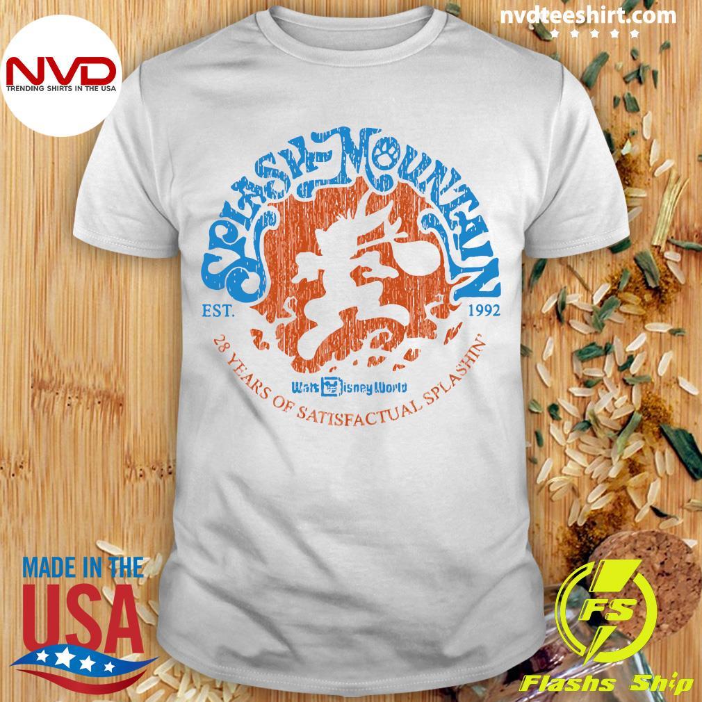 Official Splash Mountain Est 1992 28 Years Of Satisfactual Splashin Shirt