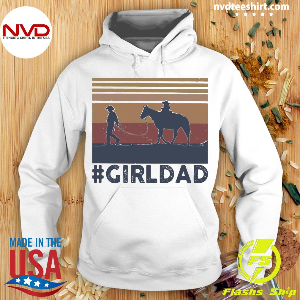 Vintage Dad And Daughter Horse Girl Dad Shirt Hoodie