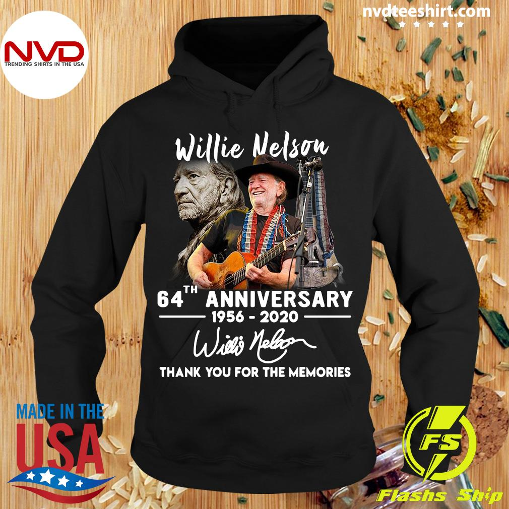 Willie Nelson 64th Anniversary 1956 2020 Thank You For The Memories Shirt Hoodie