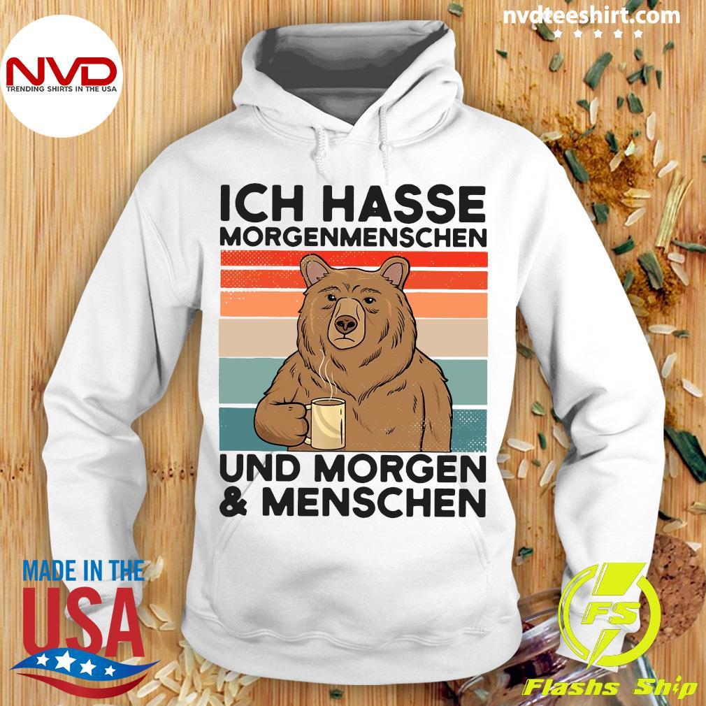 Bear Ich Hasse Morgenmenschen Und Morgen Und Menschen Vintage Retro Shirt Hoodie