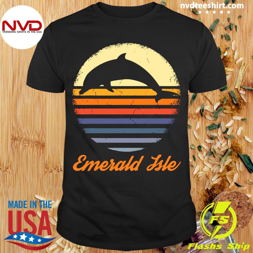 Emerald Isle North Carolina NC Dolphin Vintage Shirt