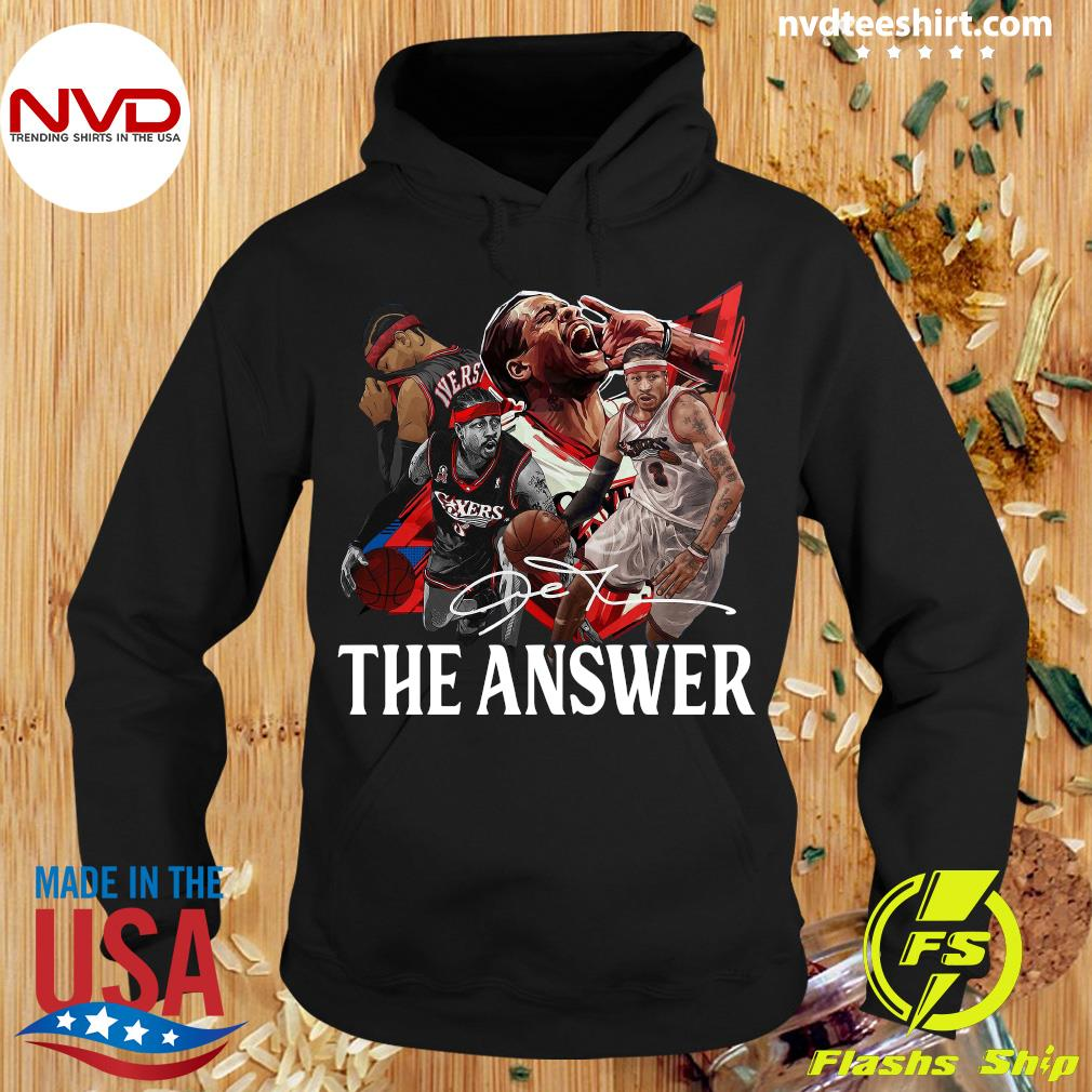 Funny Allen Iverson The Answer Signature Shirt Hoodie