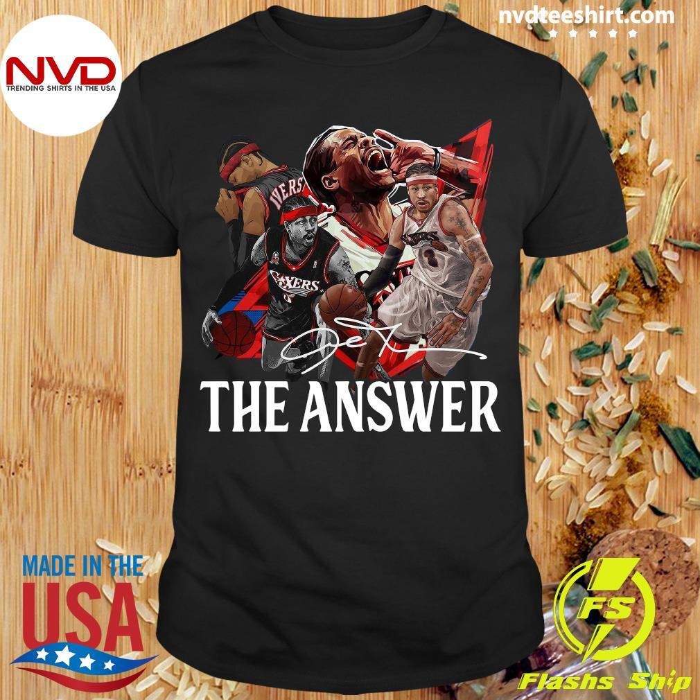 Funny Allen Iverson The Answer Signature Shirt