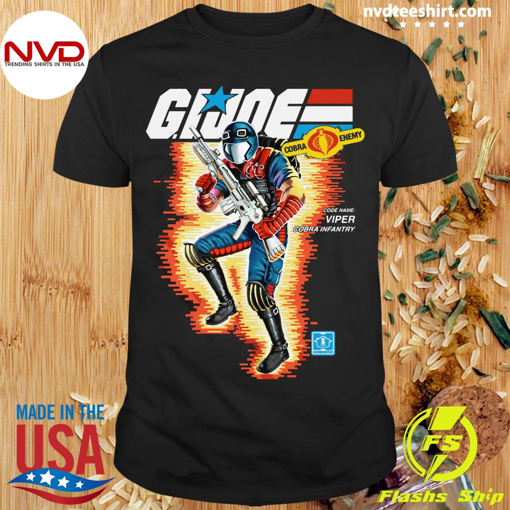 Funny Box Art Viper GI Joe Shirt