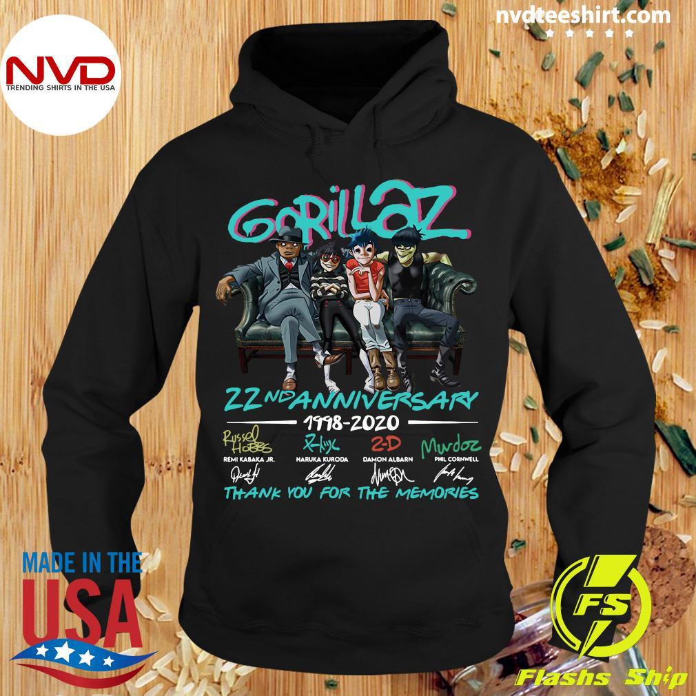 Gorillaz 22nd Anniversary 1998 2020 Signatures Shirt Hoodie