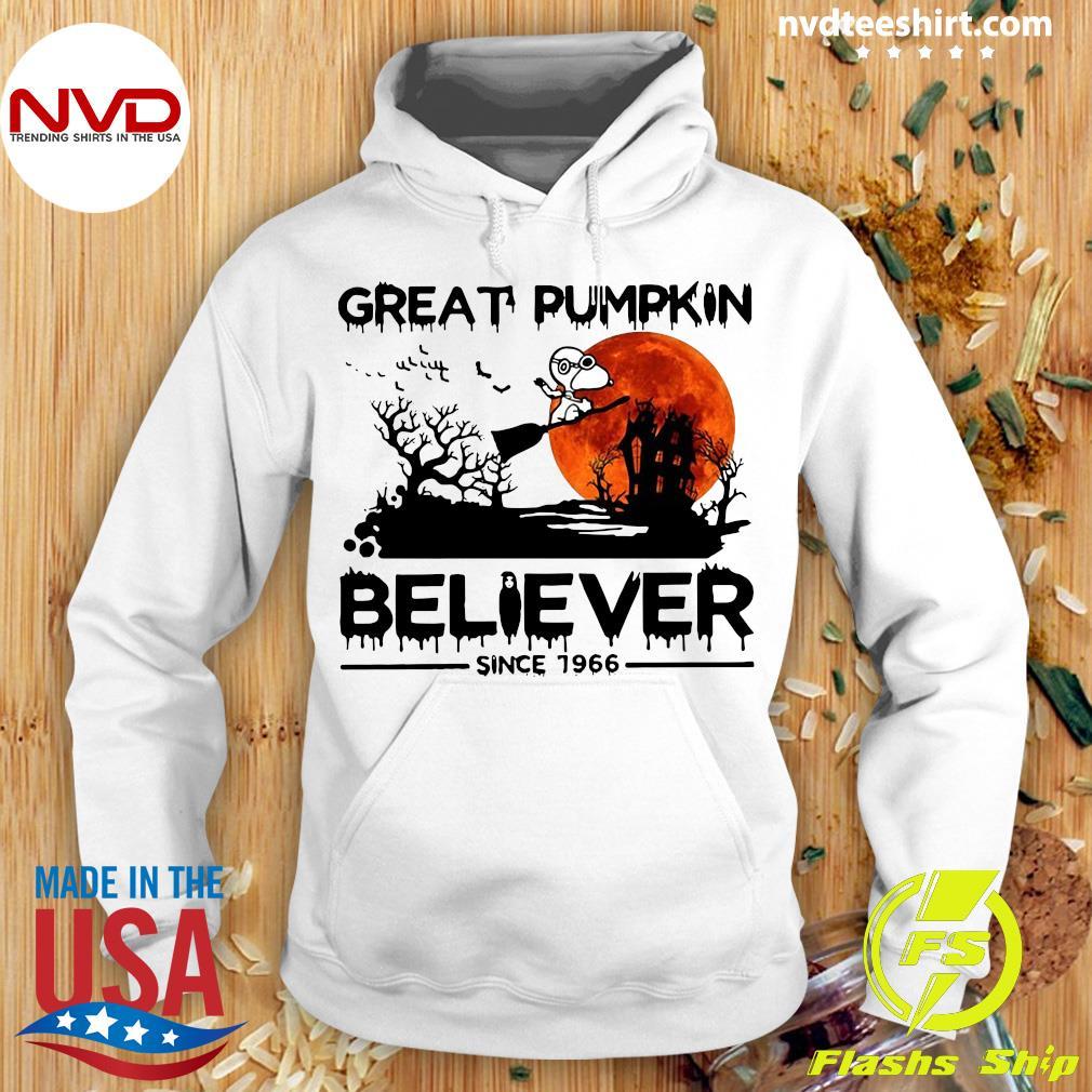 Halloween Great Pumpkin Believer Since 1966 Snoopy Shirt Hoodie