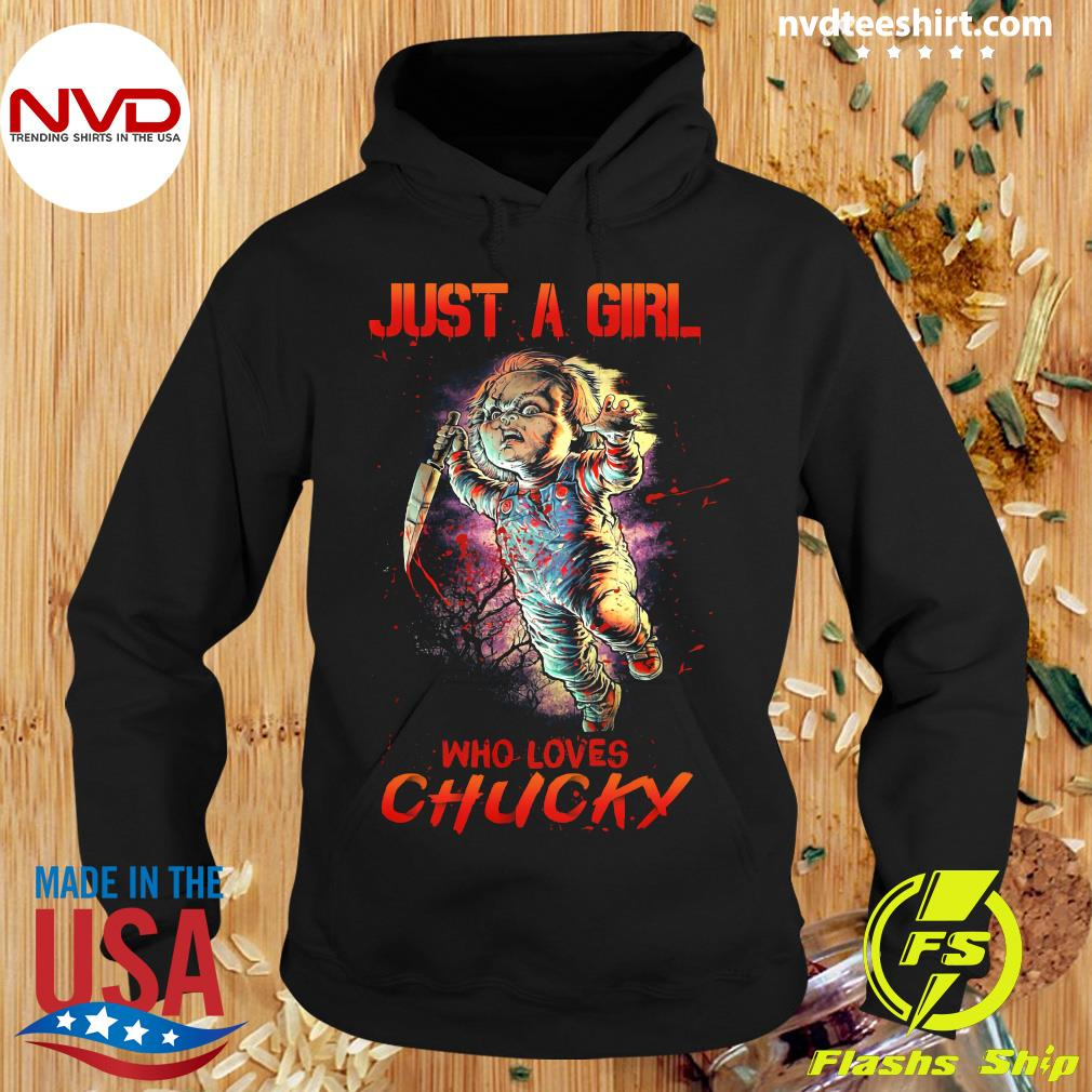 Halloween Just A Girl Who Loves Chucky Shirt Hoodie