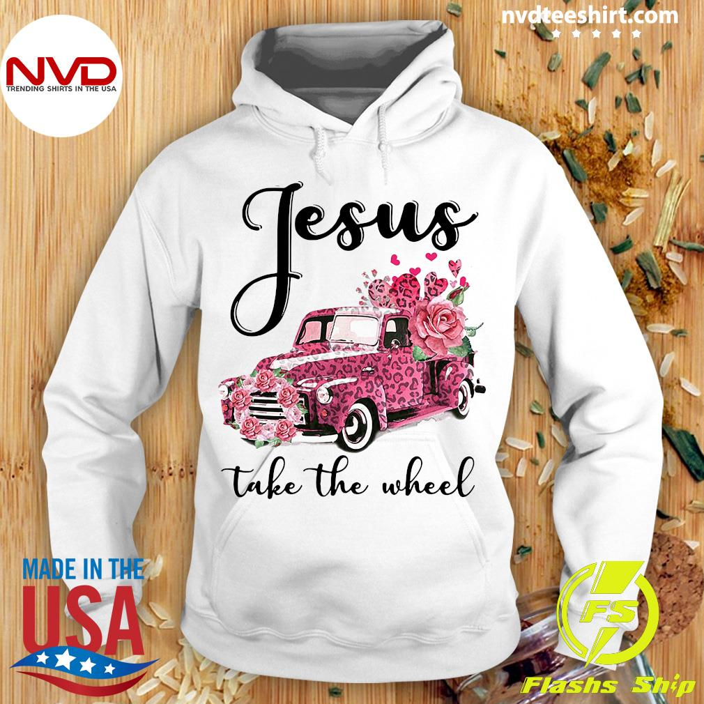 Jesus Take The Wheel Leopard Valentines Truck Shirt Hoodie