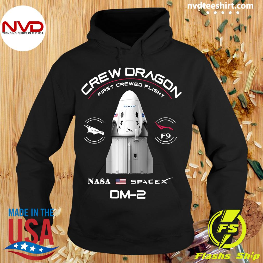 Official Crew dragon first crewed flight NASA spacex patch DM-2 s Hoodie