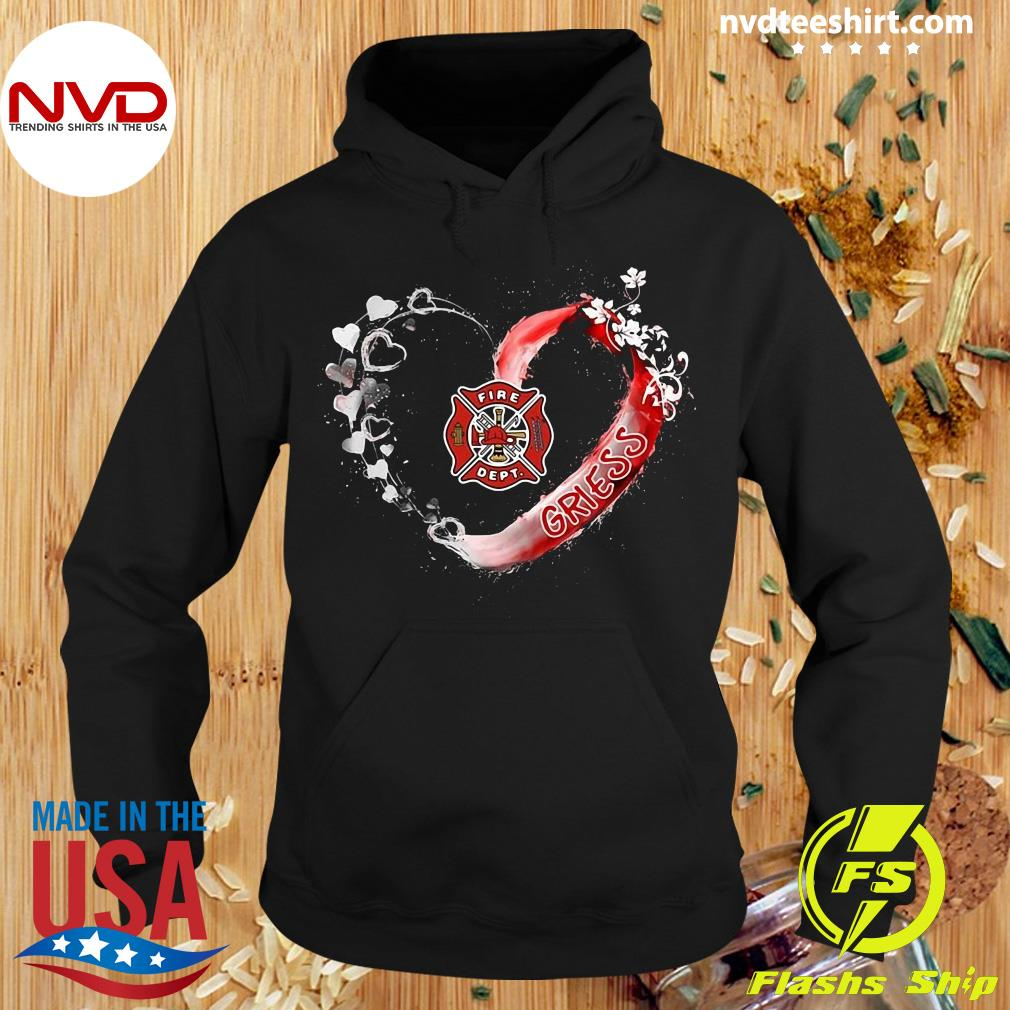 Official Firefighter Beautiful Heart Personalized Shirt Hoodie