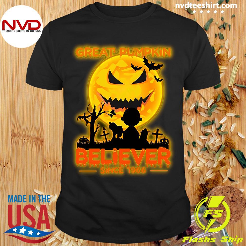 Official Great Pumpkin Believer Since 1966 Halloween Shirt