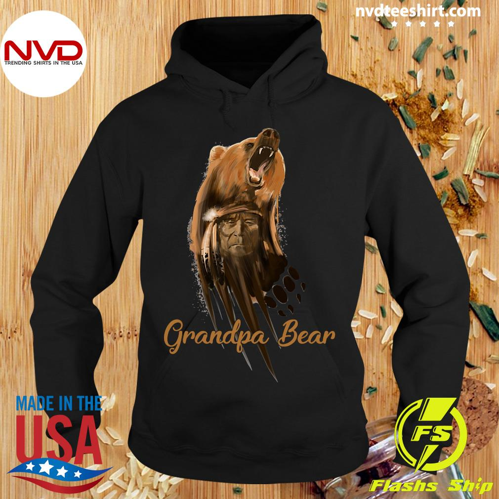 Official Native American Grandpa Bear Shirt Hoodie