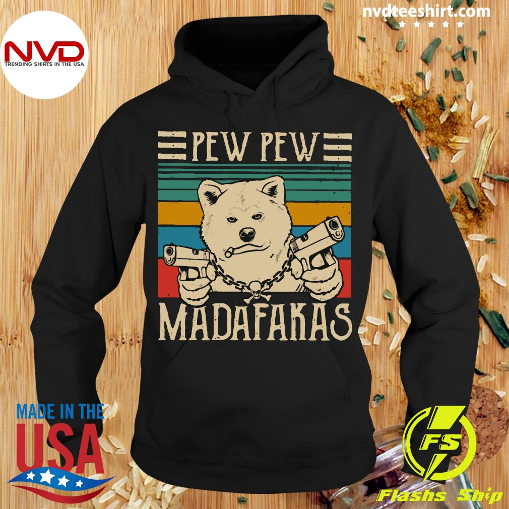 Official Pew Pew Madafakas Vintage Akita Inu Pew Shirt Hoodie