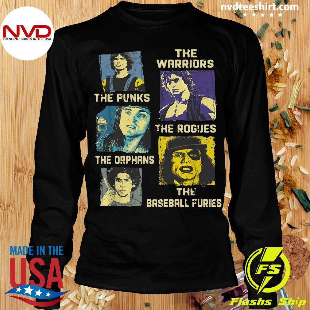 Official The Warriors The Punks The Rogues The Orphans The Baseball Furies Shirt Longsleeve