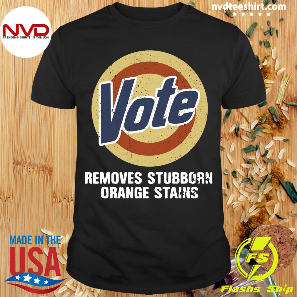 Official Vote Removes Stubborn Orange Stains Shirt